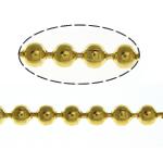 Tunxh Ball Chain, ngjyrë ari praruar, asnjë, , nikel çojë \x26amp; kadmium falas, 1.50mm, :100m,  Shumë