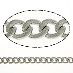 Tunxh Zinxhiri Curb, ngjyrë platin praruar, asnjë, , nikel çojë \x26amp; kadmium falas, 2.50x2x0.50mm, :100m,  Shumë