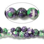 Rain Beads lule gur, Lule Rain Stone, Round, natyror, 8mm, : 0.5mm, : 15.5Inç, 10Fillesat/Shumë,  Shumë