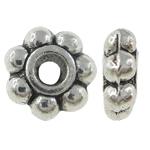 Beads Zink Alloy Spacer, Alloy zink, Lule, Ngjyra antike argjendi praruar, asnjë, , nikel çojë \x26amp; kadmium falas, 5x2mm, : 0.5mm, 6666PC/KG,  KG