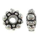 Beads Alloy zink Lule, Ngjyra antike argjendi praruar, asnjë, , nikel çojë \x26amp; kadmium falas, 6x3mm, : 1.5mm, 2000PC/KG,  KG