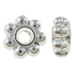 Beads Zink Alloy Spacer, Alloy zink, Lule, Ngjyra argjend praruar, asnjë, asnjë, , nikel çojë \x26amp; kadmium falas, 4x2mm, : 0.5mm, 2000PC/KG,  KG