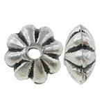 Beads bizhuteri Alloy zink, Lule, Ngjyra antike argjendi praruar, asnjë, , nikel çojë \x26amp; kadmium falas, 6x3mm, : 0.5mm, 2857PC/KG,  KG