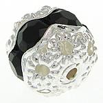Beads bizhuteri Diamant i rremë, Tunxh, Ngjyra argjend praruar, 8.50x7.50mm, : 1.2mm, 100PC/Qese,  Qese