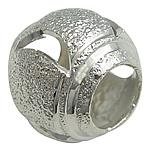 Tunxh Beads Stardust, Daulle, Ngjyra argjend praruar, asnjë, , nikel çojë \x26amp; kadmium falas, 10x12mm, : 5mm, 200PC/Qese,  Qese