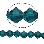Bicone Beads Crystal, Kristal, asnjë, faceted, Indicolite, 6x6mm, : 1mm, :10.5Inç, 10Fillesat/Qese,  Qese