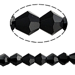 Bicone Beads Crystal, Kristal, asnjë, faceted, Reaktiv, 5x5mm, : 0.5mm, :11.5Inç, 10Fillesat/Qese,  Qese