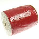Organza Ribbon, i kuq, 10mm, :500Oborr,  PC