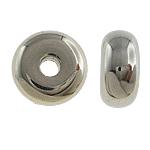 Veshura bakri Beads plastike, plastike bakrit të veshura, Rondelle, ngjyrë platin praruar, asnjë, asnjë, , nikel çojë \x26amp; kadmium falas, 17x8mm, : 4mm, 200PC/Qese,  Qese