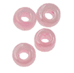 Ceylon Glas-Rocailles, rund, Rosa, 1.90x2.20mm, Bohrung:ca. 0.3mm, ca. 15000PCs/Tasche, verkauft von Tasche