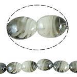 Innerer Twist Lampwork Perlen, oval, 19x23x10mm, Bohrung:ca. 1.5mm, Länge:17.5 ZollInch, 5SträngeStrang/Tasche, verkauft von Tasche