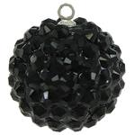 Varëse Rrëshirë, Round, e zezë, 20mm, : 1mm, 50PC/Qese,  Qese