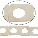 Beads Natyrore White Shell, Katror, asnjë, e bardhë, 30x4mm, : 2mm, :15.5Inç,  15.5Inç,