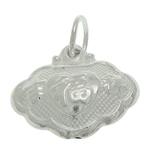 925 Sterling Silver varëse, argjend praruar vërtetë, asnjë, 12x10.50x4.80mm, : 3.5mm, 5PC/Qese,  Qese