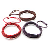 Economy Leather Bracelets, braid, more colors for choice, fashion bracelet for daily wear, 14mm, Sold per approx 10-Inch Strand