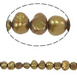 Barok Beads kulturuar Pearl ujërave të ëmbla, Pearl kulturuar ujërave të ëmbla, 4-5mm, : 0.8mm, :15Inç,  15Inç,
