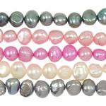 Cluster Ball Beads kulturuar Pearl, Një, 7-8mm, : 1mm, :14.5Inç,  14.5Inç,