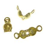 Tunxh Bead Këshilla, ngjyrë ari praruar, asnjë, , nikel çojë \x26amp; kadmium falas, 4x8x3.5mm, 3.5mm, : 1.5mm, 8000PC/Qese,  Qese