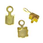 Këshilla Cord tunxh, ngjyrë ari praruar, asnjë, , nikel çojë \x26amp; kadmium falas, 4x7.8x3.4mm, 3.2x3.2mm, : 1.4mm, 3000PC/Qese,  Qese