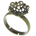 Filigran Brass Ring Base, Tunxh, Ngjyra antike bronz i praruar, asnjë, , nikel çojë \x26amp; kadmium falas, 12.50x12.50mm, : 16.5mm, :6.5, 300PC/Qese,  Qese