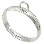 Loop Brass Ring Base, Tunxh, ngjyrë platin praruar, asnjë, , nikel çojë \x26amp; kadmium falas, 3mm, : 16.8mm, :7, 500PC/Qese,  Qese