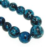 Rain Beads lule gur, Lule Rain Stone, Round, natyror, 6-14mm, :17Inç, 5Fillesat/Shumë,  Shumë