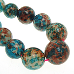 Rain Beads lule gur, Lule Rain Stone, Round, natyror, 10-20mm, :16Inç, 5Fillesat/Shumë,  Shumë
