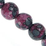 Regen Blumen Stein Perlen, rund, synthetisch, 4mm, Bohrung:ca. 1mm, Länge:ca. 16 ZollInch, 5SträngeStrang/Menge, verkauft von Menge