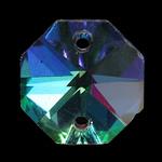 Crystal Pendants, Kristal, Gjashtëkëndësh, 14x14x7mm, : 1mm, 10PC/Qese,  Qese
