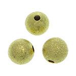 Messing Sternenstaub Perlen, rund, goldfarben plattiert, Falten, frei von Blei & Kadmium, 8mm, Bohrung:ca. 2mm, 1500PCs/Tasche, verkauft von Tasche