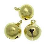 Tunxh Bell varëse, ngjyrë ari praruar, asnjë, , nikel çojë \x26amp; kadmium falas, 16x20mm, : 2.5mm, 300PC/Qese,  Qese