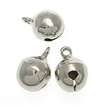 Tunxh Bell varëse, ngjyrë platin praruar, asnjë, , nikel çojë \x26amp; kadmium falas, 10x14mm, : 2mm, 1000PC/Qese,  Qese