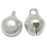 Tunxh Bell varëse, Ngjyra argjend praruar, asnjë, , nikel çojë \x26amp; kadmium falas, 6x8mm, : 1.5mm, 3000PC/Qese,  Qese