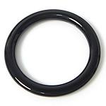 Pendants Zi agat, Black agat, Petull e ëmbël në formë gjevreku, 30x30x3.50mm, : 22.5mm, 50PC/Shumë,  Shumë