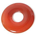 Pendants Red agat, Petull e ëmbël në formë gjevreku, 40x40mm, : 10mm, 50PC/Shumë,  Shumë