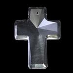 Crystal Pendants, Kristal, Kryq, Kristal, 30x40x10.50mm, : 1.5mm,  PC