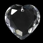 Crystal Pendants, Kristal, Zemra Flat, Kristal, 27x8mm, : 1.5mm,  PC