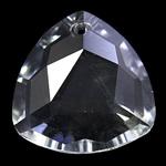 Crystal Pendants, Kristal, Trekëndësh, Kristal, 28x11mm, : 2mm,  PC