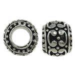 Beads European aliazh zink, Alloy zink, Daulle, asnjë, pa karrem & smalt, asnjë, , nikel çojë \x26amp; kadmium falas, 11x8mm, : 5.5mm, 10PC/Qese,  Qese
