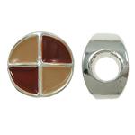 Zink Legierung Europa Perlen, Zinklegierung, Münze, ohne troll & Emaille, frei von Nickel, Blei & Kadmium, 12x8mm, Bohrung:ca. 5mm, 10PCs/Tasche, verkauft von Tasche