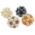 Cluster Ball Beads kulturuar Pearl, Pearl kulturuar ujërave të ëmbla, Round, 20mm, 4PC/Qese,  Qese