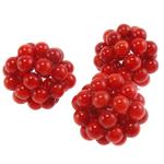 Natürliche Korallen Perlen, Synthetische Koralle, rund, rot, 18-22mm, verkauft von PC