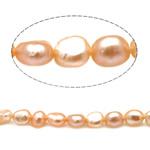 Barok Beads kulturuar Pearl ujërave të ëmbla, Pearl kulturuar ujërave të ëmbla, Një, 4.5-5mm, : 0.8mm, :15Inç,  15Inç,
