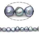 Patates Beads ujërave të ëmbla kulturuar Pearl, Pearl kulturuar ujërave të ëmbla, natyror, blu, AA, 6-7mm, : 0.8mm, :15Inç,  15Inç,