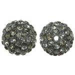 Rrëshirë Beads diamant i rremë, Round, asnjë, me diamant i rremë, Greige, 10x10mm, : 1.5mm, 10PC/Qese,  Qese
