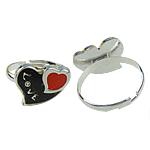Finger smalt Mood Ring, Alloy zink, asnjë, 17x14mm, : 16-20mm, 100PC/Kuti,  Kuti