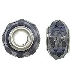 European Beads Crystal, Kristal, Rondelle, core argjendi i pastër me dy pa karrem, Lt Amethyst, 14x9mm, : 5mm, 20PC/Qese,  Qese
