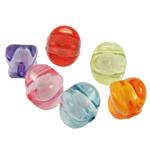 Bead në Beads akrilik Bead, Rondelle, bead bead në, ngjyra të përziera, 14x13.50mm, : 2mm, 416PC/Qese,  Qese