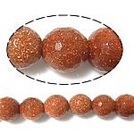 Beads Goldstone, Round, asnjë, 14mm, : 1mm, :14.5Inç, 5Fillesat/Shumë,  Shumë