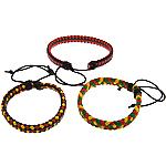 Cord lëkure byzylyk, Lëkurë, with Cord Wax, Shape Tjera, asnjë, asnjë, ngjyra të përziera, 10mm, 5mm, :6-10Inç, 50Fillesat/Shumë,  Shumë
